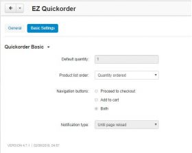 quickorder admin setup